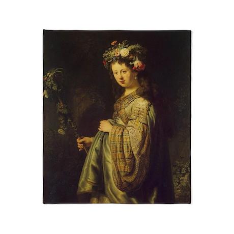 Saskia as Flora Throw Blanket
