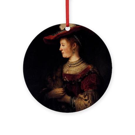 Saskia in a Pompous Dress Ornament (Round)