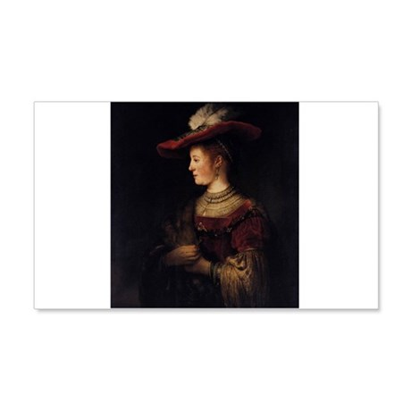 Saskia in a Pompous Dress 22x14 Wall Peel