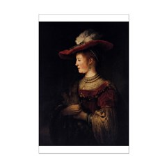 Saskia in a Pompous Dress Posters