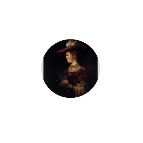 Saskia in a Pompous Dress Mini Button