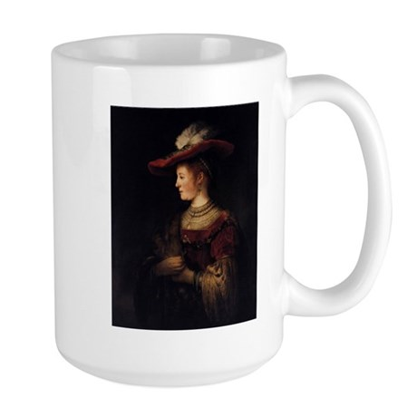 Saskia in a Pompous Dress Large Mug