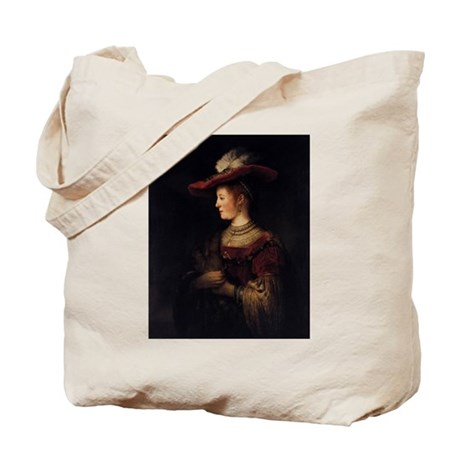 Saskia in a Pompous Dress Tote Bag