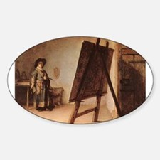 Self Portrait 1626 Sticker (Oval)