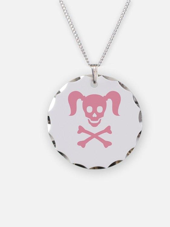 Curly Girlie Skull Necklace