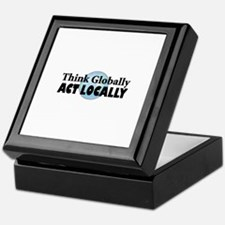 Think Globally Keepsake Box