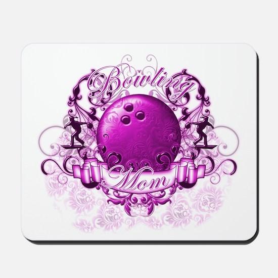 Bowling Mom (Pink) Mousepad