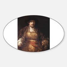 Self Portrait 1658 Sticker (Oval)