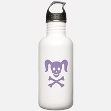 Curly Girlie Skull Water Bottle