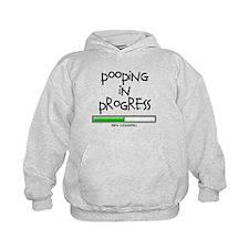 POOPING IN PROGRESS - L BLACK Hoodie