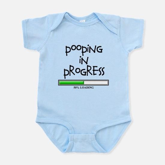 POOPING IN PROGRESS - L BLACK Infant Bodysuit