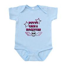 POTTY LIKE A ROCKSTAR - L PIN Infant Bodysuit