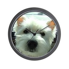 Cute West highland white terriers Wall Clock