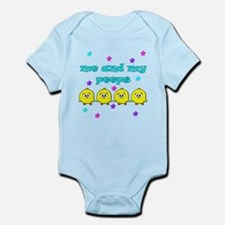 ME AND MY PEEPS - L BLUE Infant Bodysuit