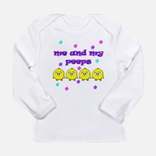NME AND MY PEEPS - L PURPLE Long Sleeve Infant T-S