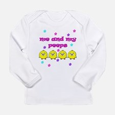 ME AND MY PEEPS - L PINK Long Sleeve Infant T-Shir