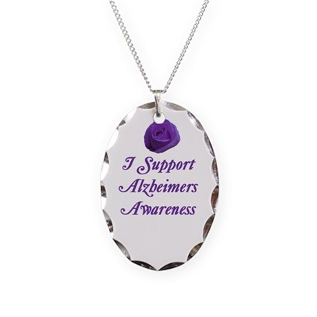 Alzheimers Necklace Oval Charm