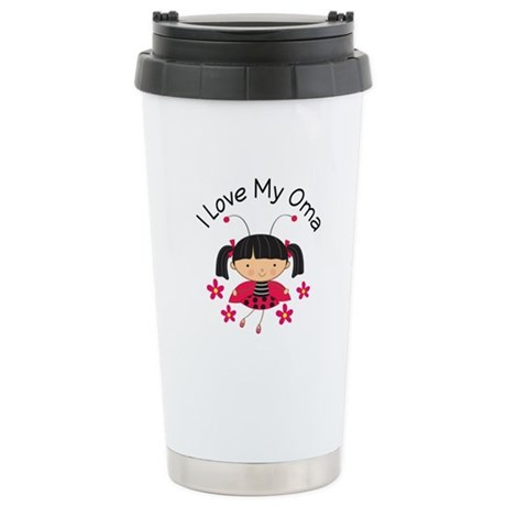 I Love My Oma Ladybug Stainless Steel Travel Mug