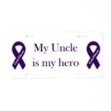 Uncle CF Hero Aluminum License Plate