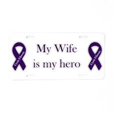 Wife CF Hero Aluminum License Plate