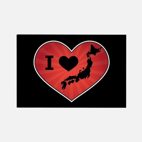 Japan Love Rectangle Magnet