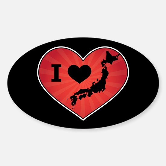 Japan Love Sticker (Oval)