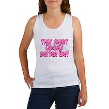 This shirt looks better wet Women's Tank Top