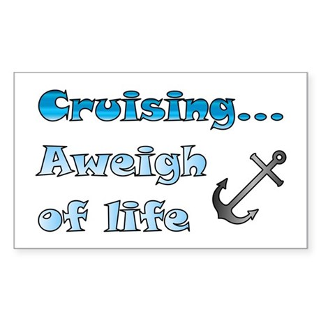Aweigh of Life Sticker (Rectangle)