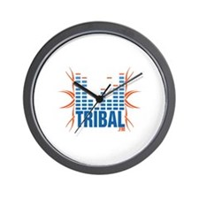 Cute Tribal fm internet radio logo Wall Clock