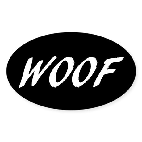 Woof (Oval Sticker)