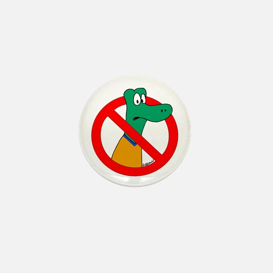 Anti-Gators Mini Button