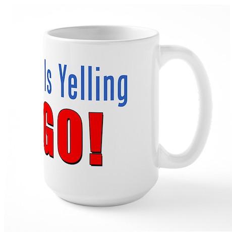 Happiness Is Yelling Bingo Large Mug