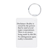 Standard Disclaimer Keychains