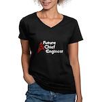 Future Chief Engineer Women's V-Neck Dark T-Shirt