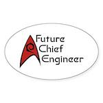 Future Chief Engineer Sticker (Oval 50 pk)