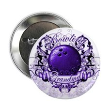 "Bowling Grandma (Purple) 2.25"" Button"
