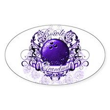 Bowling Grandma (Purple) Decal