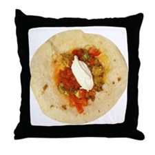 I Love Mexican Food Throw Pillow