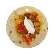 I Love Mexican Food Ornament (Round)