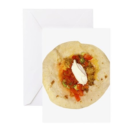 I Love Mexican Food Greeting Cards (Pk of 10)