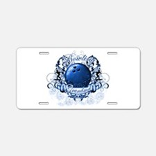 Bowling Grandma (Blue) Aluminum License Plate