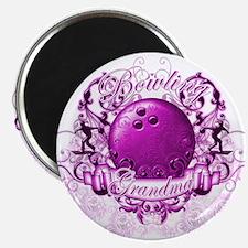 "Bowling Grandma (Pink) 2.25"" Magnet (10 pack)"