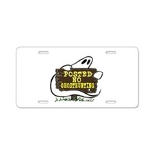 No Ghost Hunting Sign Aluminum License Plate