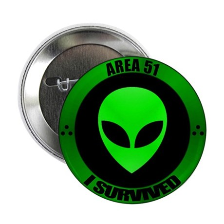 "GA AREA 51 - I Survived 2.25"" Button (100 pac"