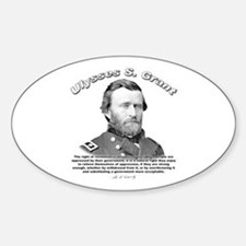 Ulysses S. Grant 02 Oval Decal