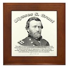 Ulysses S. Grant 02 Framed Tile