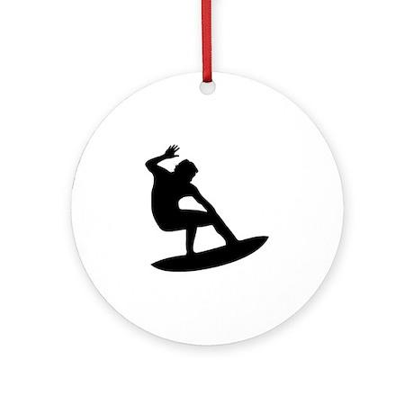 Surfing - Surfer Ornament (Round)