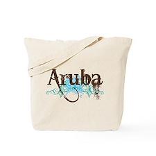 Aruba Grunge Vacation Tote Bag