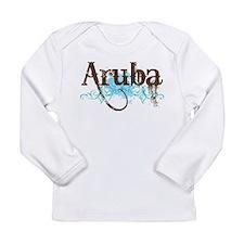 Aruba Grunge Vacation Long Sleeve Infant T-Shirt