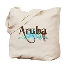 Aruba Grunge Vacation Tote Bag